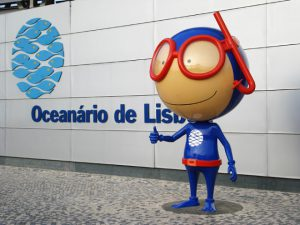 Mascota del Oceanário de Lisboa- Vasco