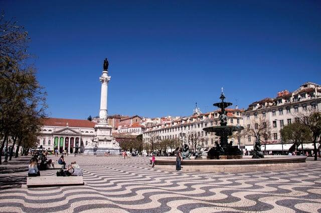 Rossio en Lisboa