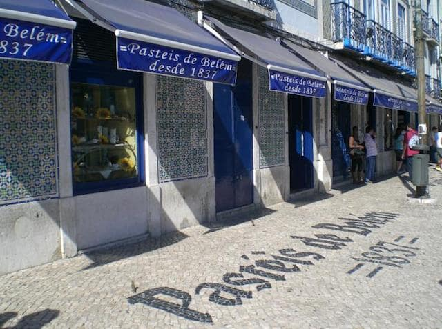 Antigua Confitería de Belém en Lisboa