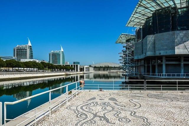 Oceanário en el Parque das Nações en Lisboa
