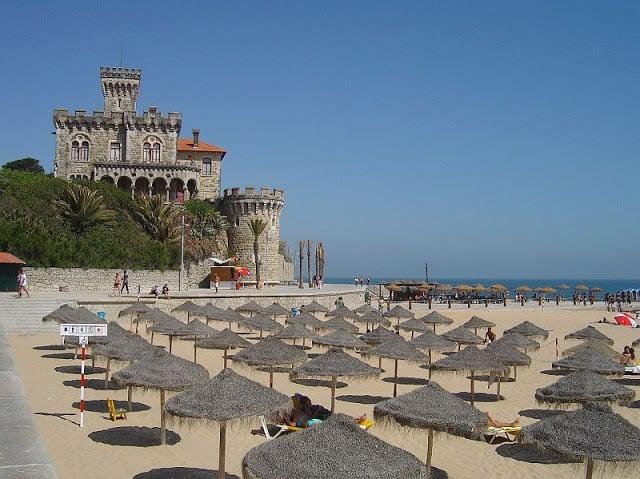 Praia do Tamariz (Playa de Tamariz) en Estoril