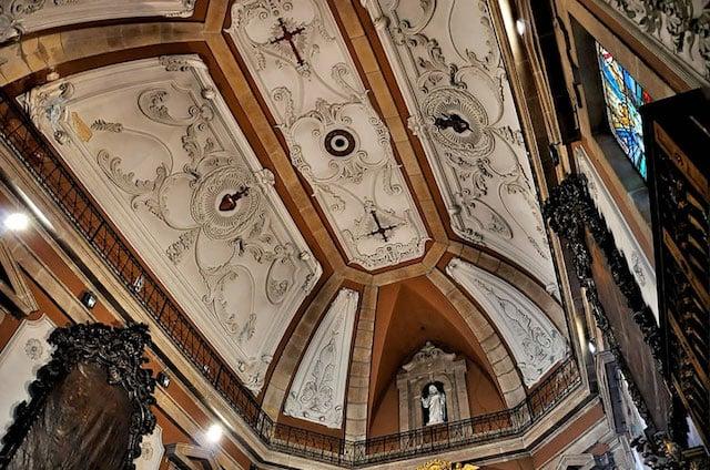 Techo de la Iglesia de Santo Ildefonso en Oporto