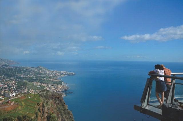 Cabo Girão en la Isla de Madeira en Portugal