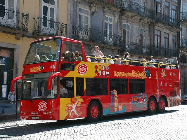 Autobús de City Sightseeing Porto